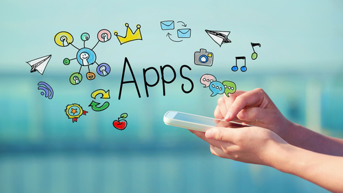 Recent growth in the use of mobile apps